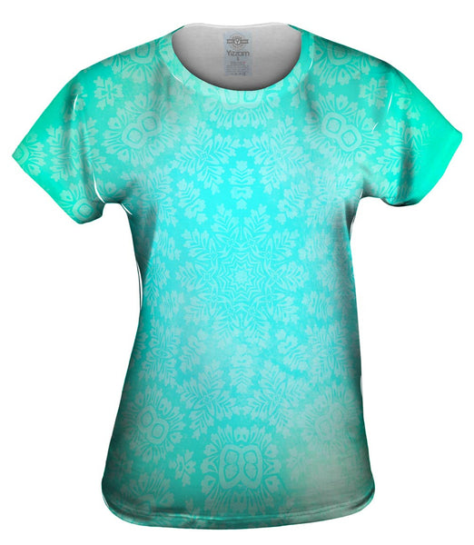 Floral Goddess Green Turquoise Womens Top