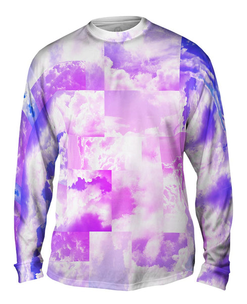 Cloud Collage Blue Pink Mens Long Sleeve