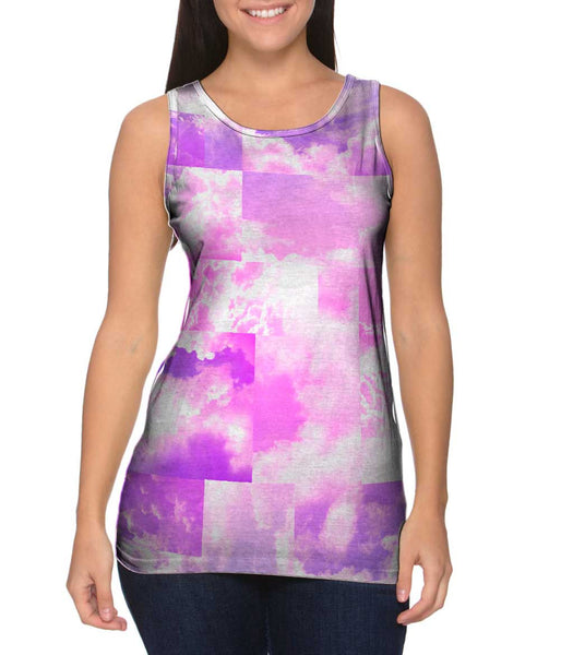 Cloud Collage Blue Pink Womens Tank Top