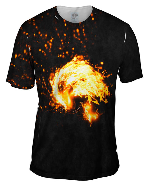 Flame Girl Mens T-Shirt