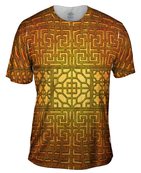 Eastern Tapestry Gold Mens T-Shirt