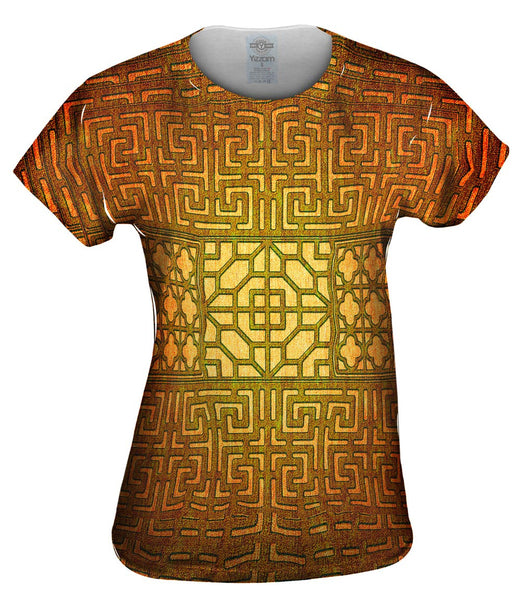 Eastern Tapestry Gold Womens Top