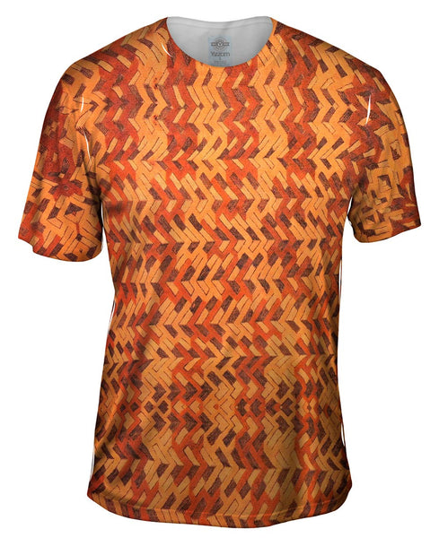 African Tribal Kuba Cloth Boomerang Mens T-Shirt