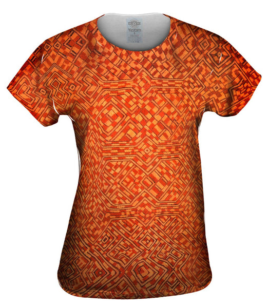 African Tribal Kuba Cloth Pattern Womens Top