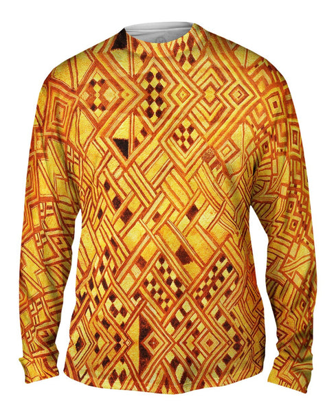 African Tribal Kuba Cloth Wedding Gift Mens Long Sleeve