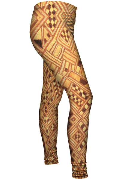 African Tribal Kuba Cloth Wedding Gift Womens Leggings