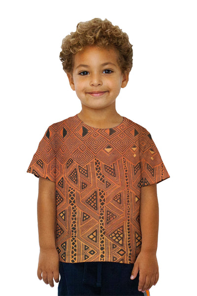 Kids African Tribal Kuba Cloth Triangles Kids T-Shirt