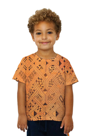 Kids African Tribal Kuba Cloth Lattice Runway