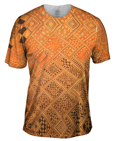 African Tribal Kuba Cloth Marriage Quilt Mens T-Shirt