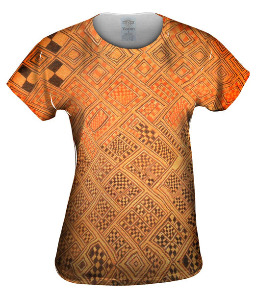 African Tribal Kuba Cloth Marriage Quilt Womens Top