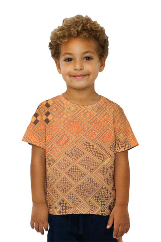 Kids African Tribal Kuba Cloth Marriage Quilt