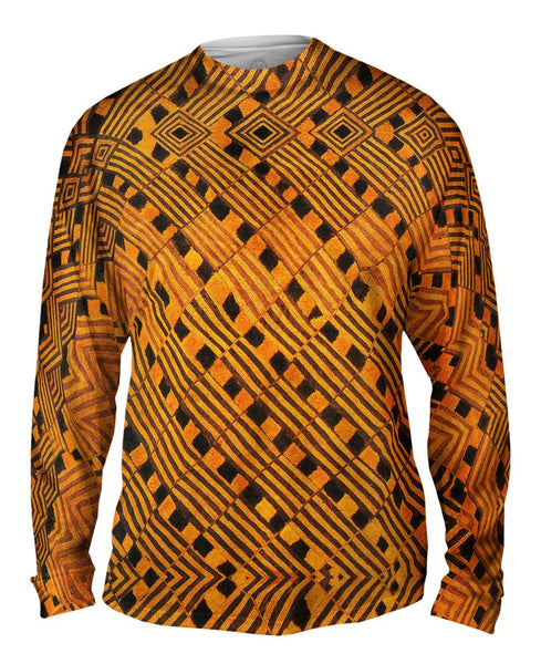 African Tribal Rain Cloth Mens Long Sleeve