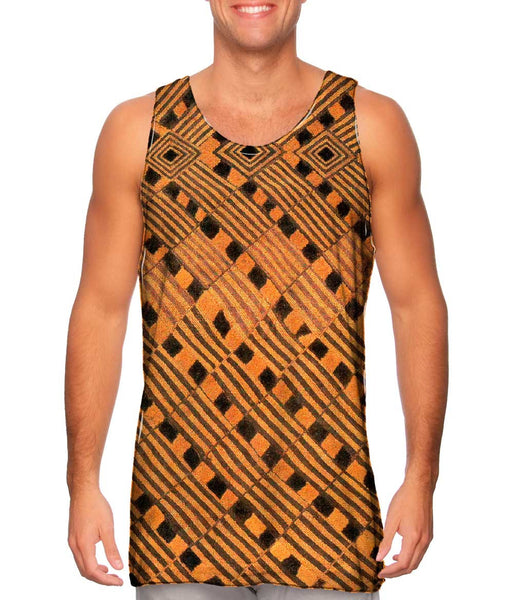 African Tribal Rain Cloth Mens Tank Top