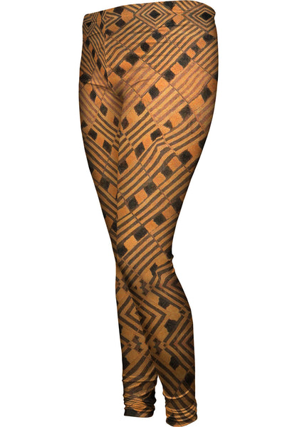 African Tribal Rain Cloth Womens Leggings