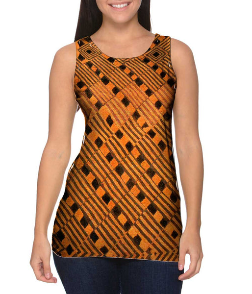 African Tribal Rain Cloth Womens Tank Top