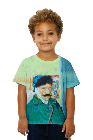 Kids Moustache Hipster Vincent Van Gogh Self Portrait With Bandaged Ear