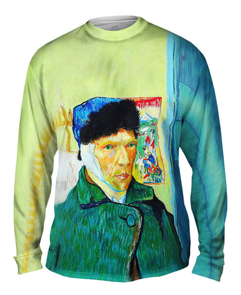 Moustache Hipster Vincent Van Gogh Self Portrait With Bandaged Ear Mens Long Sleeve