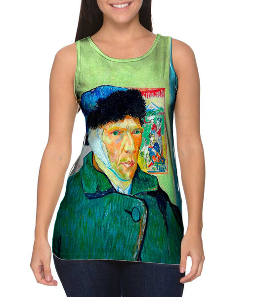 Moustache Hipster Vincent Van Gogh Self Portrait With Bandaged Ear Womens Tank Top