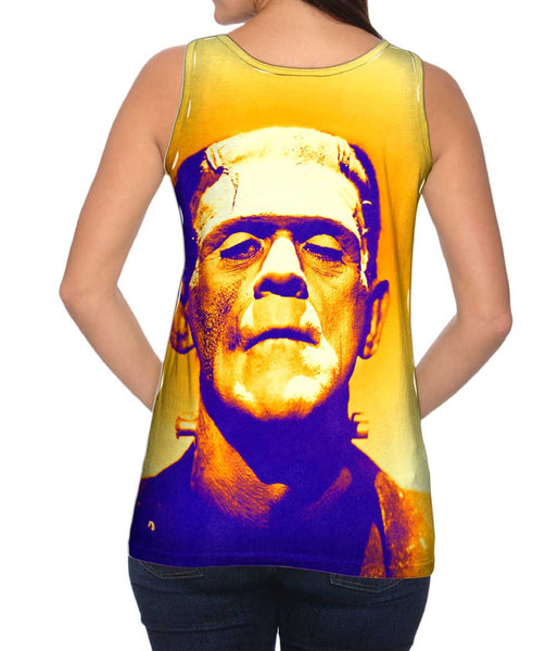Frankensteins Monster Purple And Orange Womens Tank Top