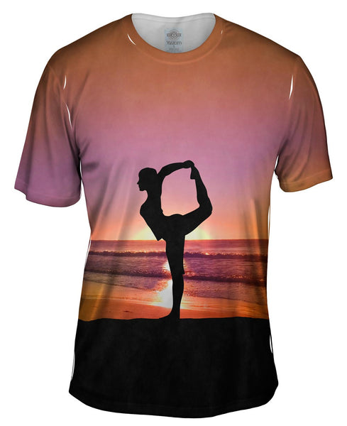 Beach Yoga Mens T-Shirt