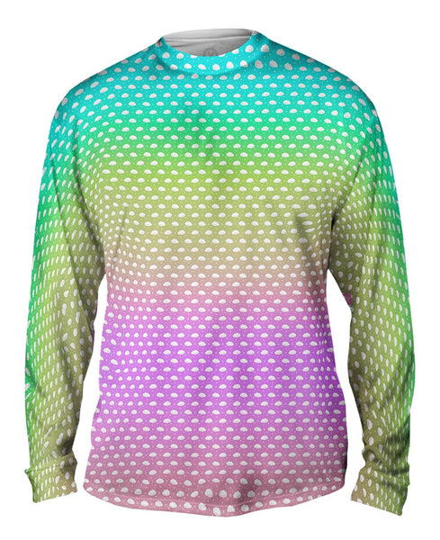Cloudy With A Chance Of Color Mens Long Sleeve