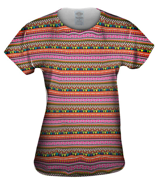 Tribal Colorful Aztec Warrior Womens Top