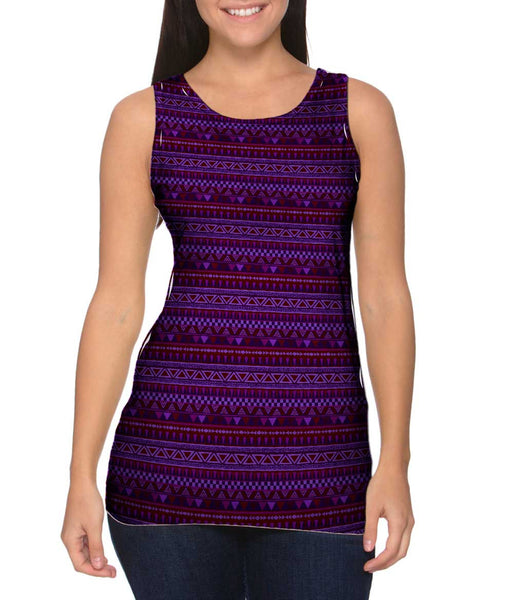 Tribal Purple Aztec Warrior Womens Tank Top