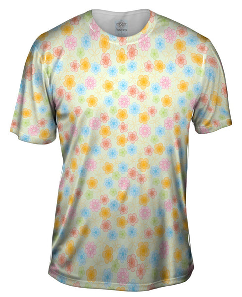 Tribal Flower Fun Mens T-Shirt