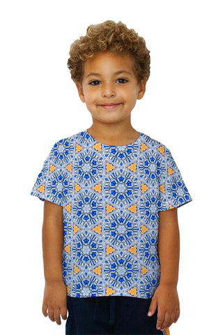 Kids Blue Orange Diamonds Pattern