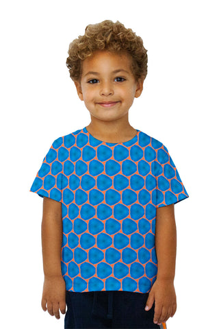Kids Blue Orange Colorful Triangles