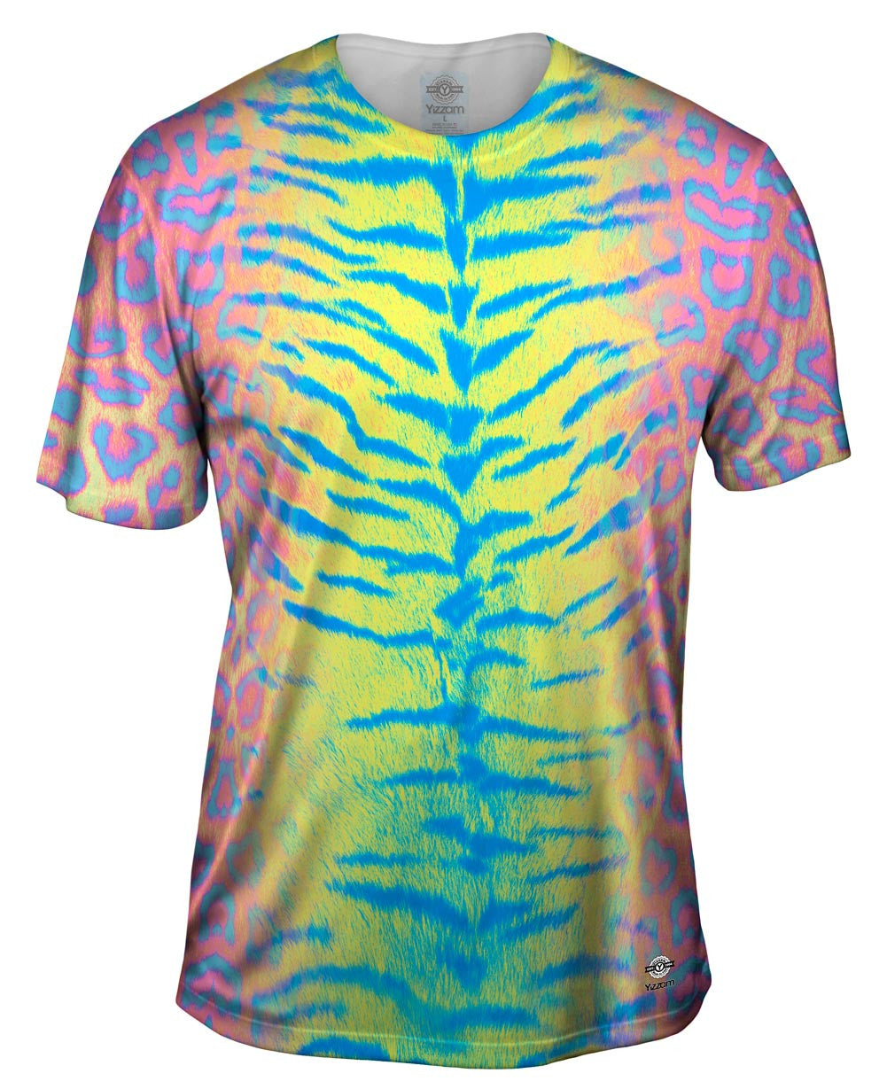 Tiger Leopard Skin Pink Yellow Blue