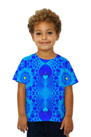 Kids Blue Fractal Heart