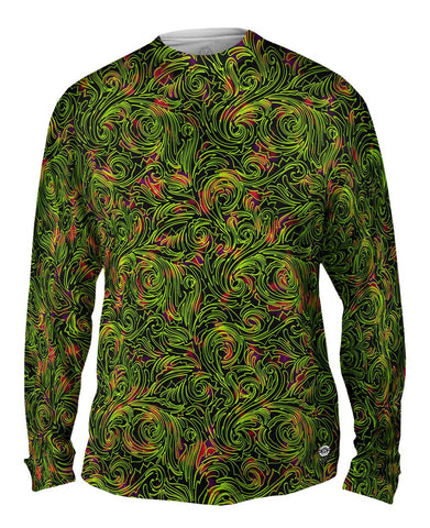 Autumn Me Green Leaf Swirls Pattern