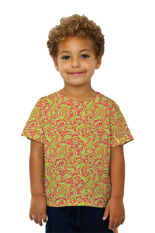 Kids Autumn Me Pink Leaf Swirls Pattern