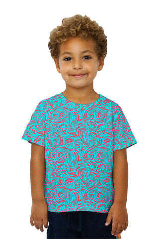 Kids Autumn Me Red Leaf Swirls Pattern