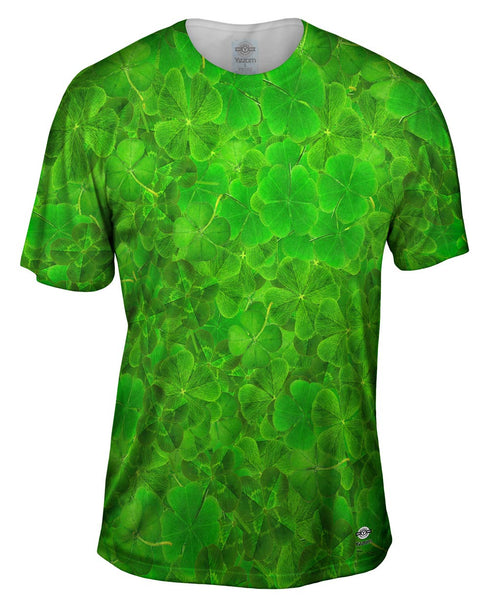 Luck Of The Irish Four Leaf Clover Mens T-Shirt