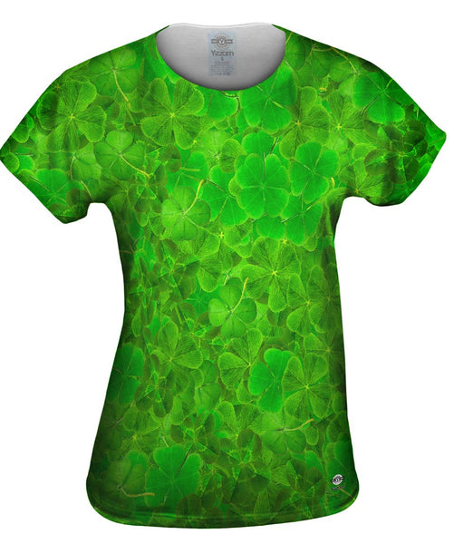 Luck Of The Irish Four Leaf Clover Womens Top