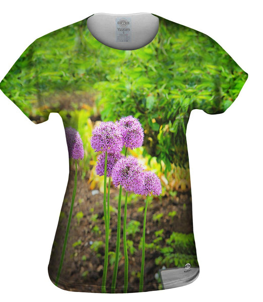 Pretty Purple Flowers Womens Top