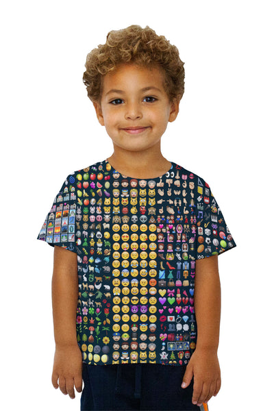 Kids Emoji Party Jumbo Kids T-Shirt