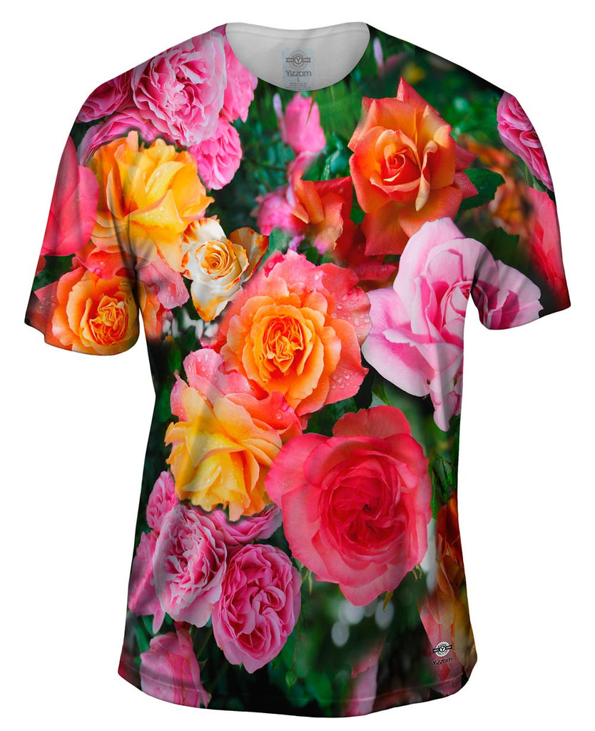 Bright day rose bouquet mens t shirt yizzam izmirmasajfo Gallery