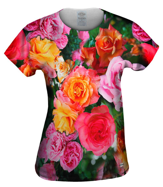 Bright Day Rose Bouquet Womens Top