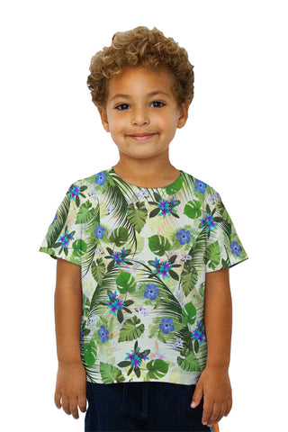 Kids Aloha Blue Flowers Pattern