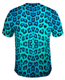 Neon Blue Leopard Animal Skin