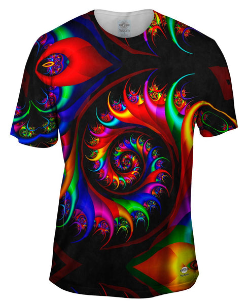 Trippy Rainbow Spirals Mens T-Shirt