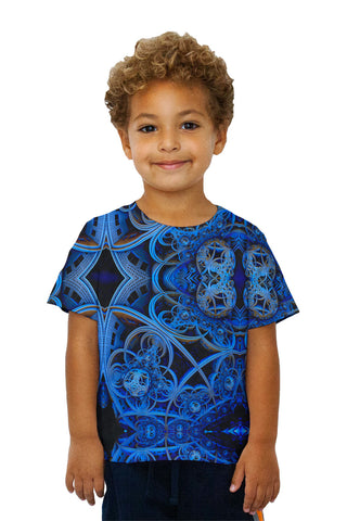 Kids 3D Blue Fractal City