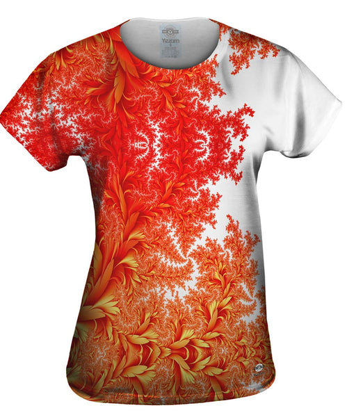 Flora Flowers Fractal Womens Top