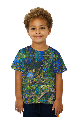 Kids Building Fractal Design Pattern Green