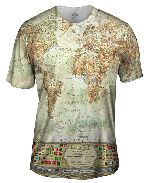 Ash World Map Mens T-Shirt