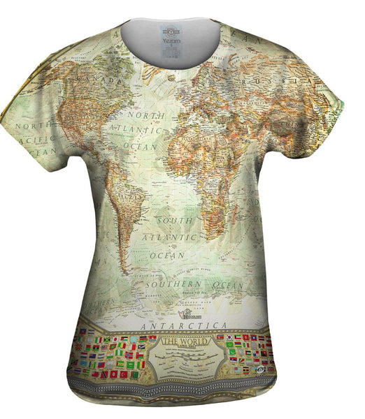 Ash World Map Womens Top