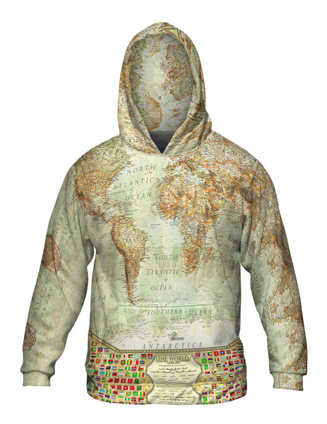 Ash World Map Mens Hoodie Sweater